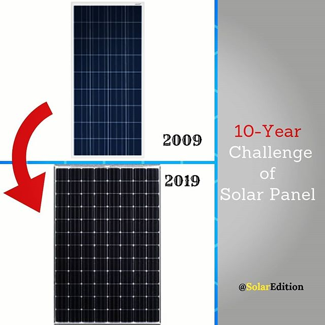 10-Year Challenge of Solar Panel