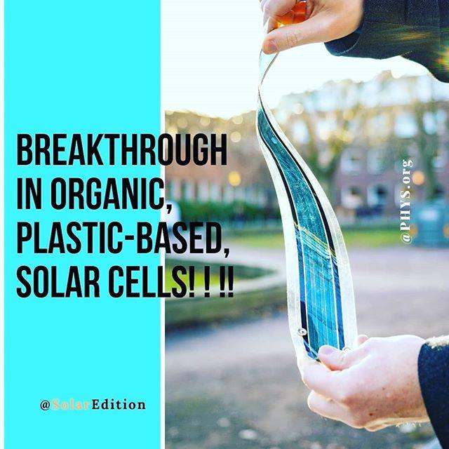 A Breakthrough in Organi, Plastic-Based, Solar Cells
