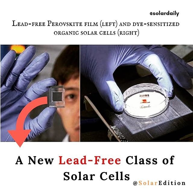 A New Lead-Free Class of Solar Cells