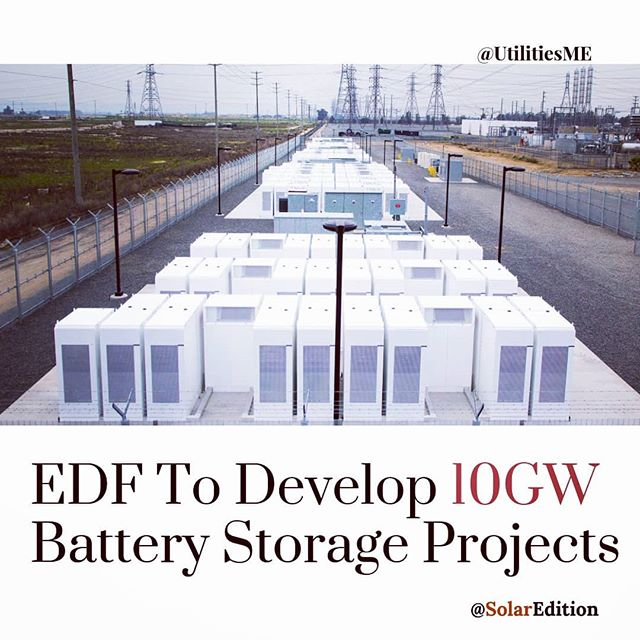 EDF plans to develop 10GW battery storage projects