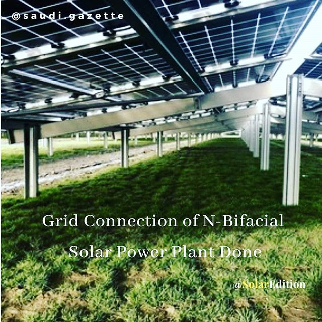 Grid connection of N-bifacial solar power plant done
