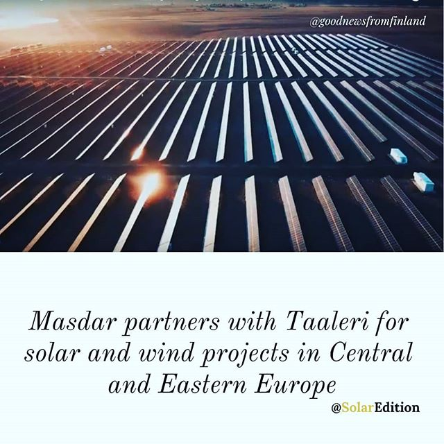 Masdar partners with Taaleri for solar and wind projects in Central and Eastern Europe