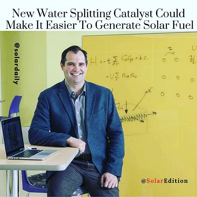 New water splitting catalyst could make it easier to generate solar fuel