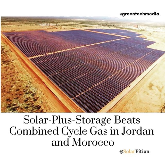 Solar-Plus-Storage Beats Combined Cycle Gas in Jordan and Morocco