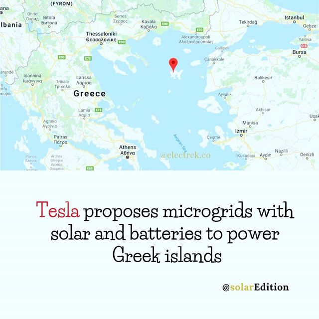 Tesla suggests microgrids with solar and batteries to power greek iclands