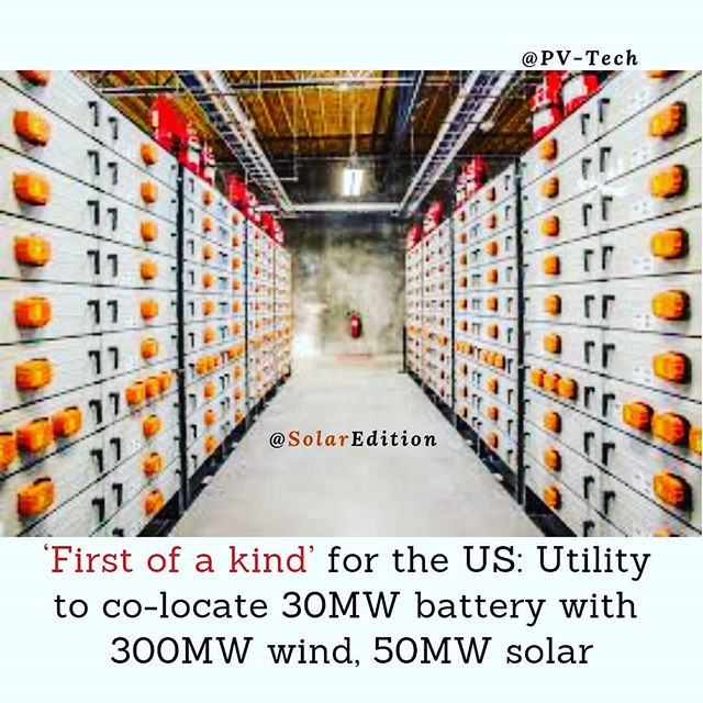 'First of a kind' for the US: Utility to co-locate 30 MW battery with 300 MW wind, 50 MW solar