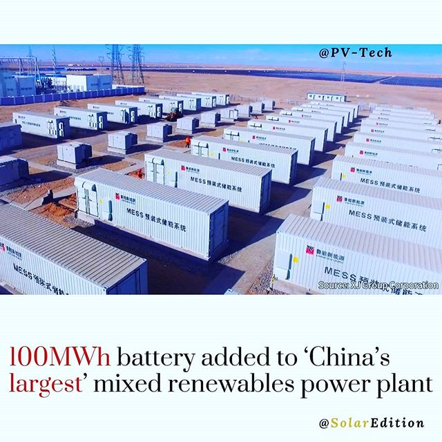 100MWh battery added to 'China's largest' mixed renewables power plant