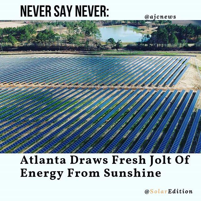 Atlanta draws fresh jolt of energy from sunshine