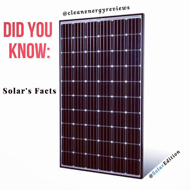 Did You Know:Solar's Facts
