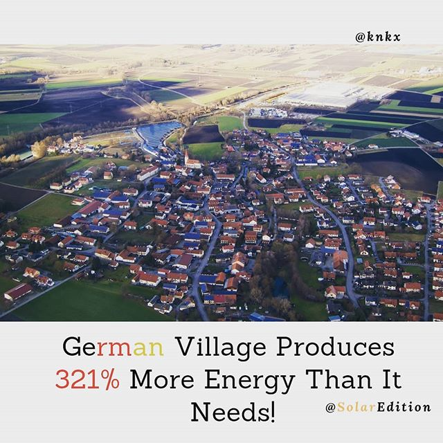 German Village Produces 321% More Energy Than It Needs