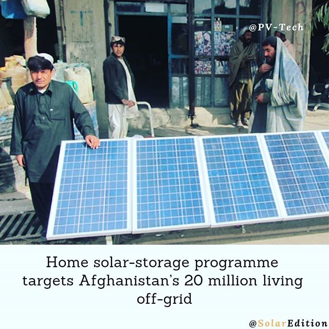 Home solar-storage programme targets Afghanistan's 20 million living off-grid