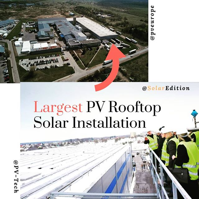 Largest solar panel rooftop installation in the Baltic States opens in Lithuania