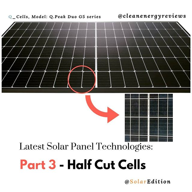 Latest Solar Panel Technologies - Part 3 - half cut or half size cells