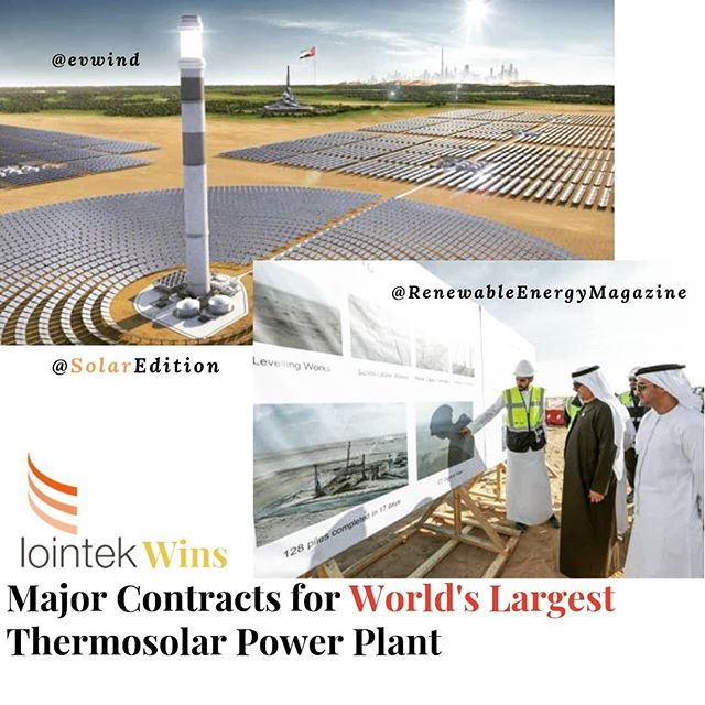 Lointek wins major contracts for the world's largest thermosolar power plant