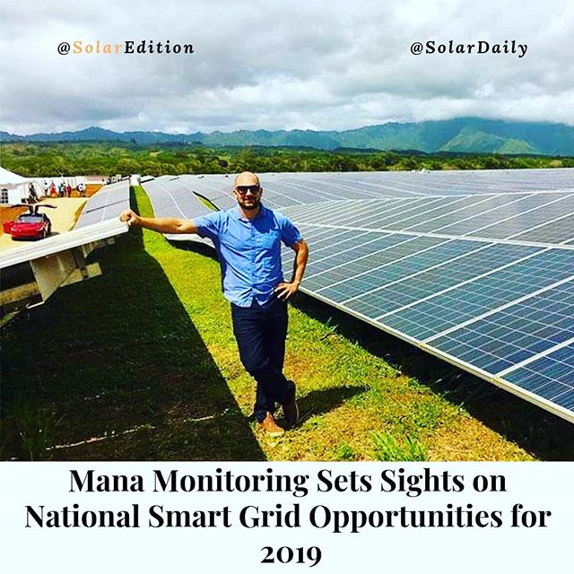 Mana Monitoring Sets Sights on National Smart Grid Opportunities for 2019