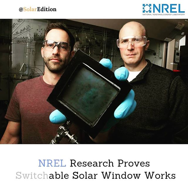 NREL research proves switchable solar window works