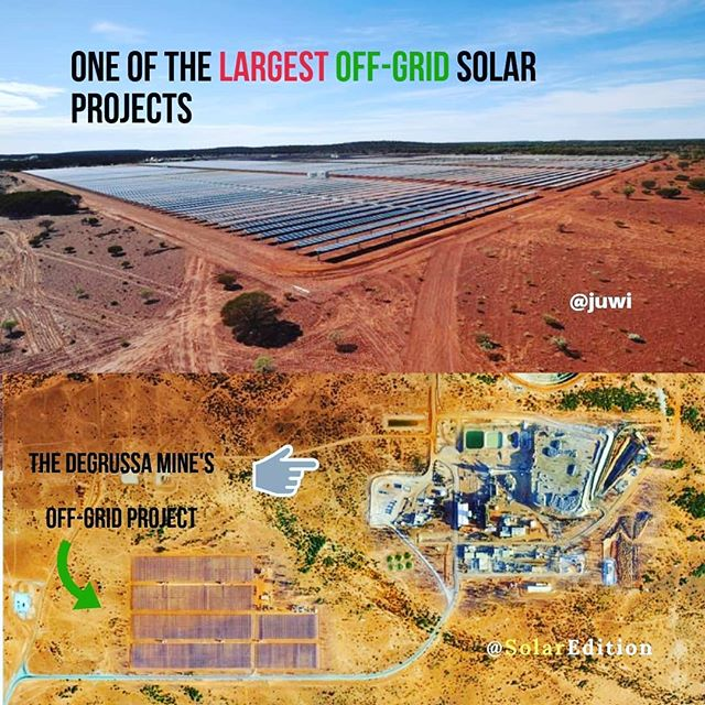 One of the largest off-grid solar projects