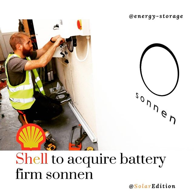 Shell to acquire battery firm sonnen