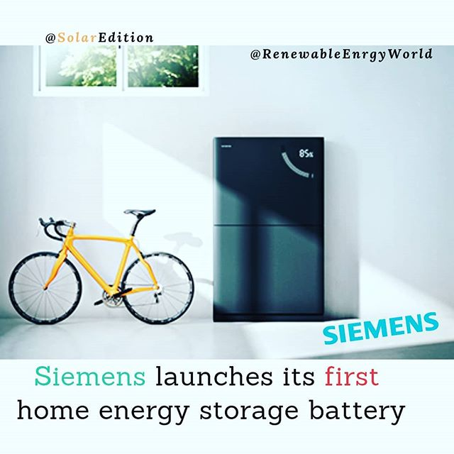 Siemens Launches its first home energy storage battery