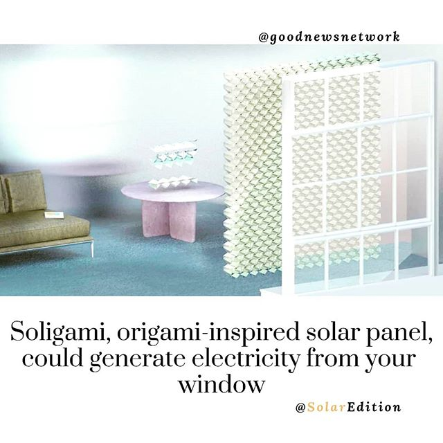 Soligami, origami-inspired solar panel, could generate electricity form your window