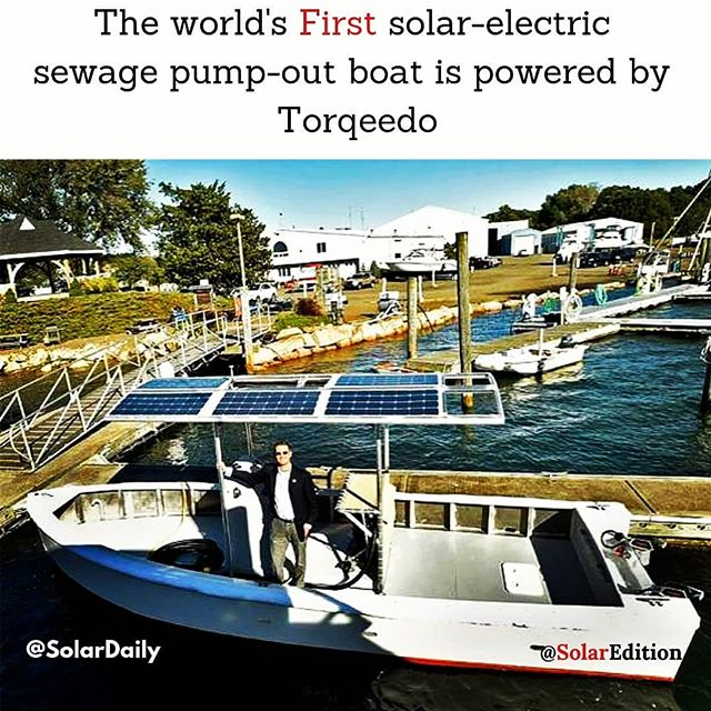 The world's first solar-electric sewage pump-out boat is powered by Torqeedo