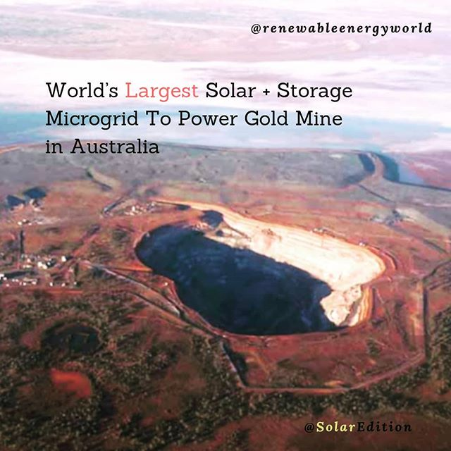 World's largest solar+storage microgrid to power gold mine in Australia