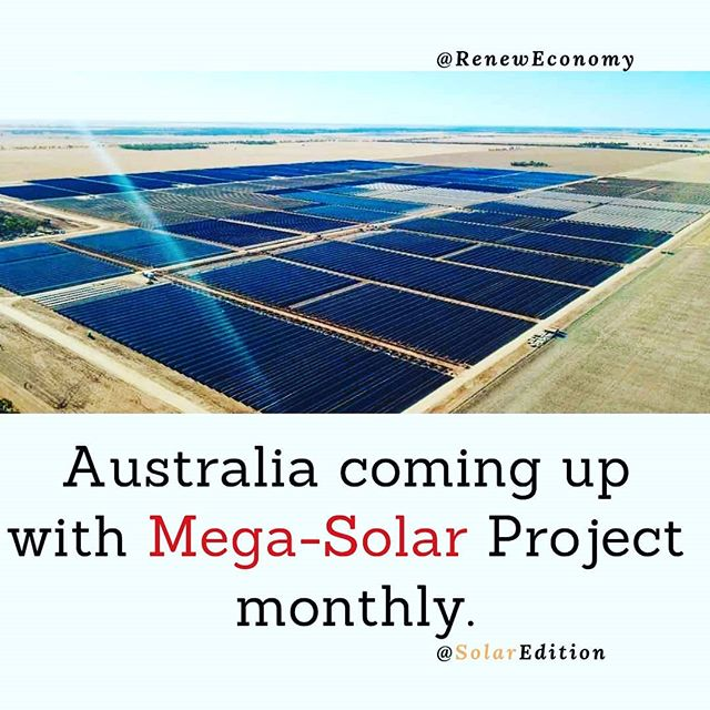 Australia coming up with Mega-Solar Project monthly