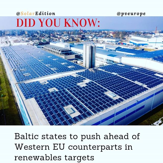 Baltic states to push ahead of Western EU counterparts in renewables targets