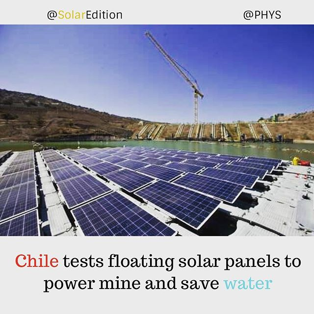 Chile Tests Floating Solar Panel To Power Mine and Save Water