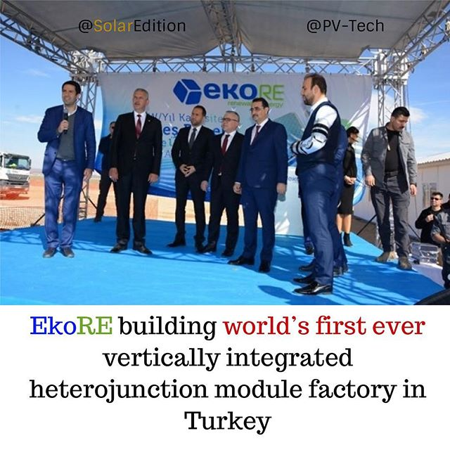 EkoRE building world's first ever vertically integrated heterojunction module factory in Turkey