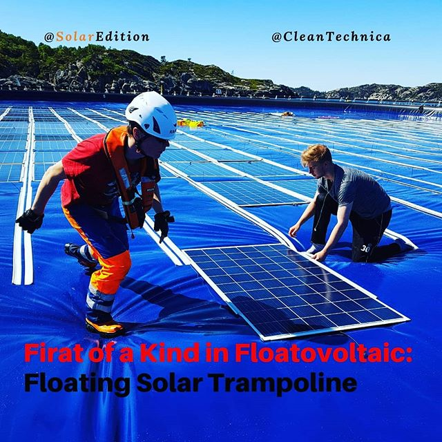 First of a Kind in Floatovoltaic:Floating Solar Trampoline