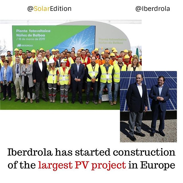 Iberdrola has started construction of the largest PV project in Europe