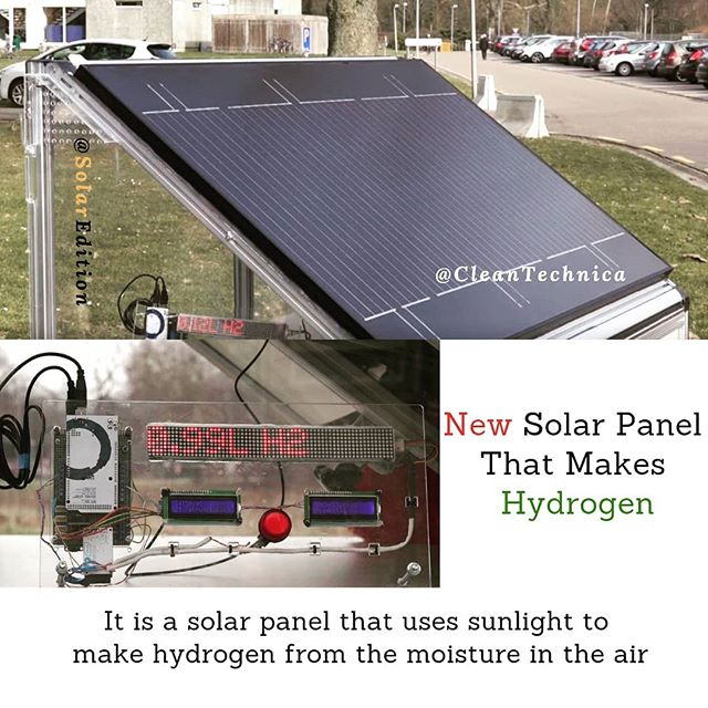 New Solar Panel That Makes Hydrogen