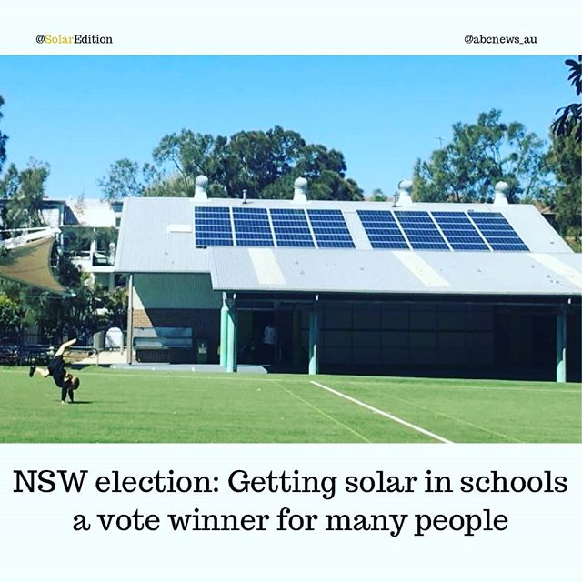 NSW election: Getting solar in schools a vote winner for many people