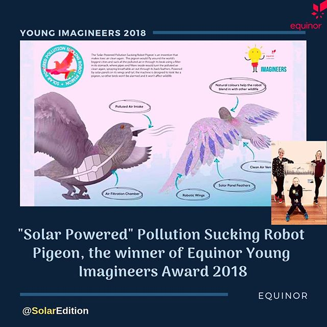 Solar Powered Pollution Sucking Robot Pigeon