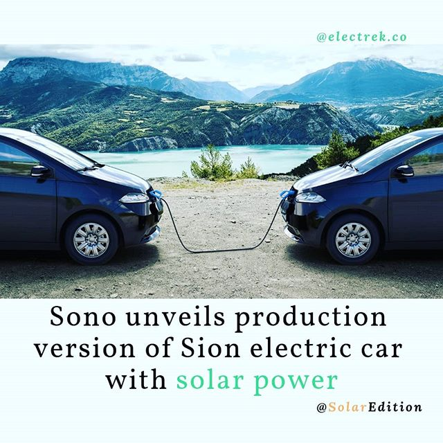 Sono unveils the production version of Sion electric car with solar power