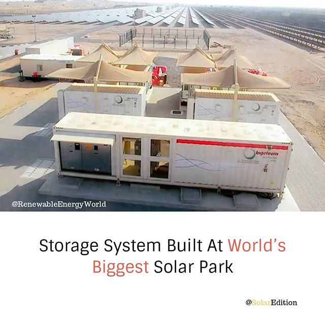 Storage system built at the world's biggest solar park