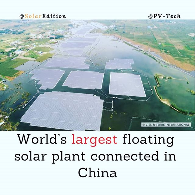 World's largest floating solar plant connected in China