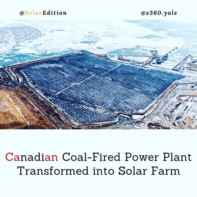 Canadian Coal-Fired Power Plant Transformed into Solar Farm