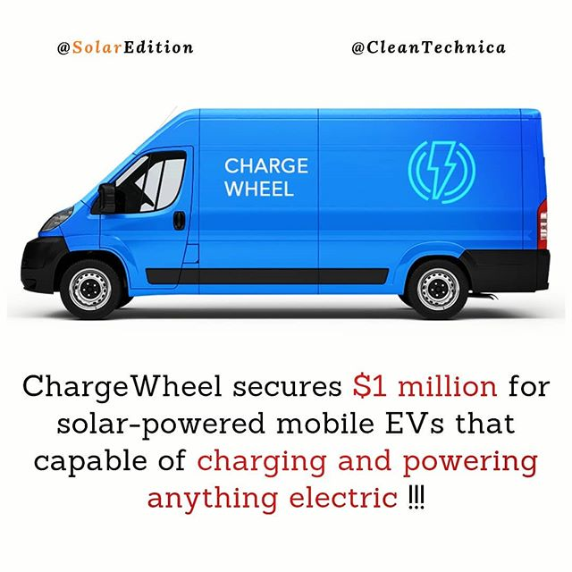 ChargeWheel secures $1 million for solar-powered mobile EVs that capable of charging and powering anything electric