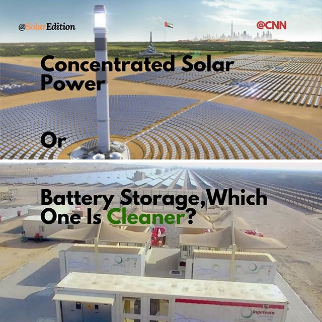 Concentrated Solar Power Or Battery Storage, Which One Is Cleaner?