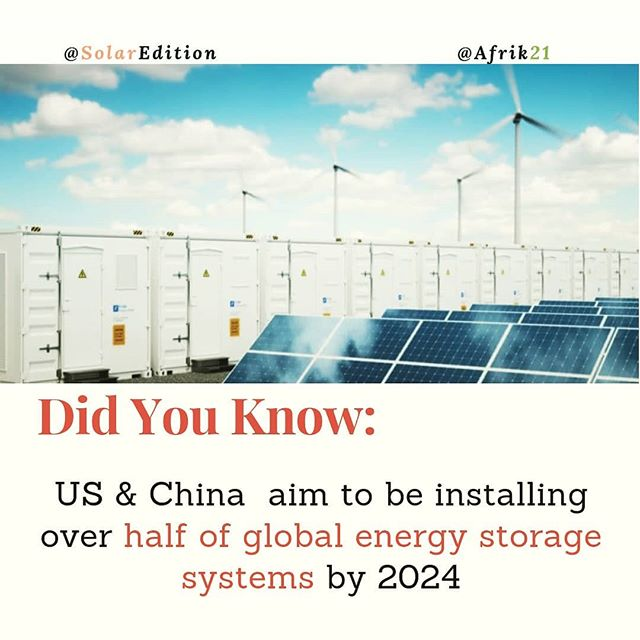 Did You Know: US & China aim to be installing over half of global energy storage systems by 2024