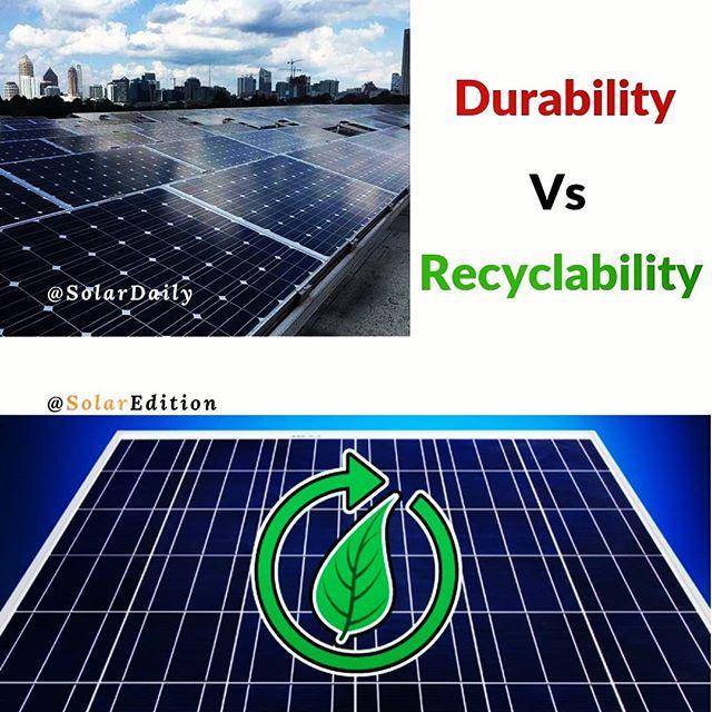 Durability Vs Recyclability