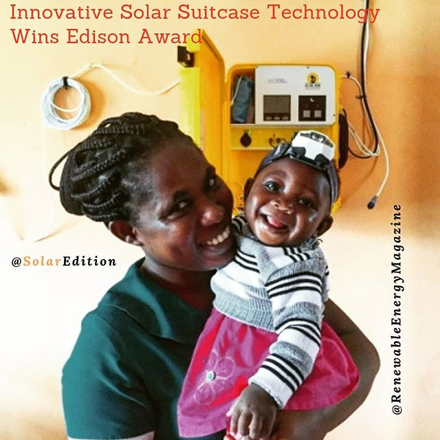Innovative Solar Suitcase Technology Wins The 2019 Edison Award