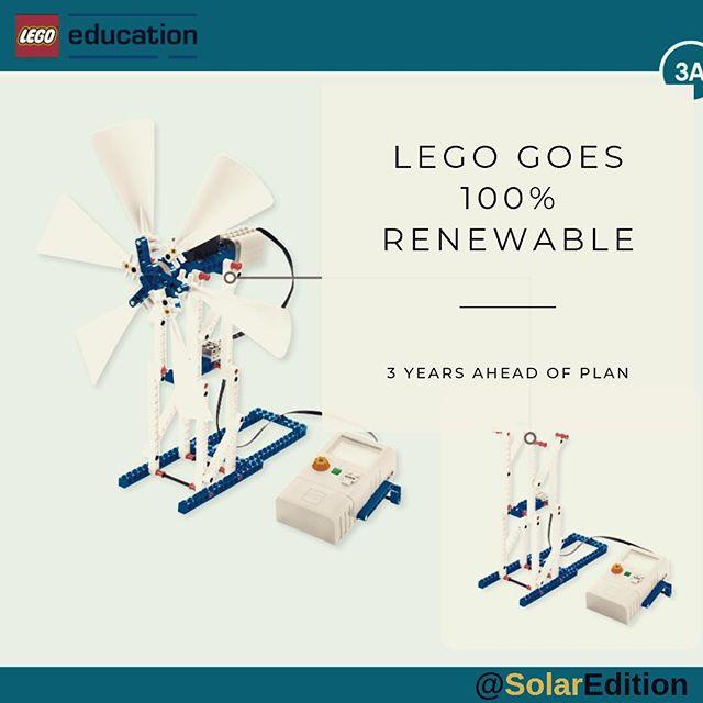 LEGO reaches 100% renewable energy target 3 years ahead of plan