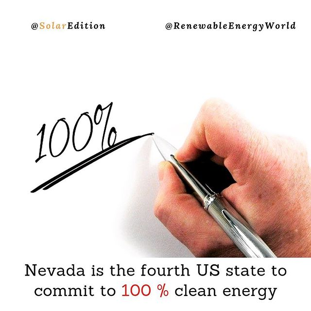 Nevada is the fourth US state to commit to 100% clean energy