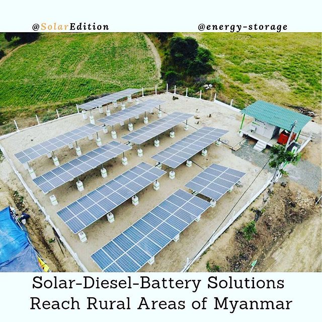 Solar-Diesel-Battery Solutions Reach Rural Areas Of Myanmar