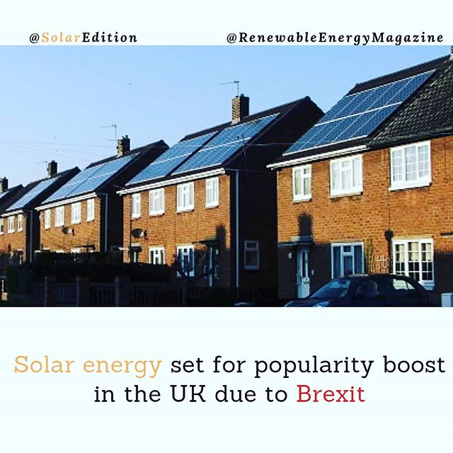 Solar Energy Set For Popularity boost In The UK Due To Brexit