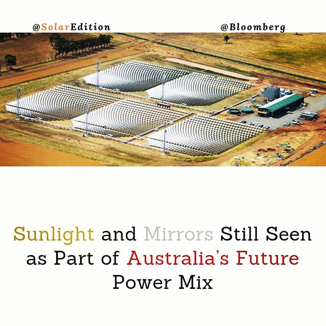 Sunlight and Mirrors Still Seen as Part of Australia's Future Power Mix