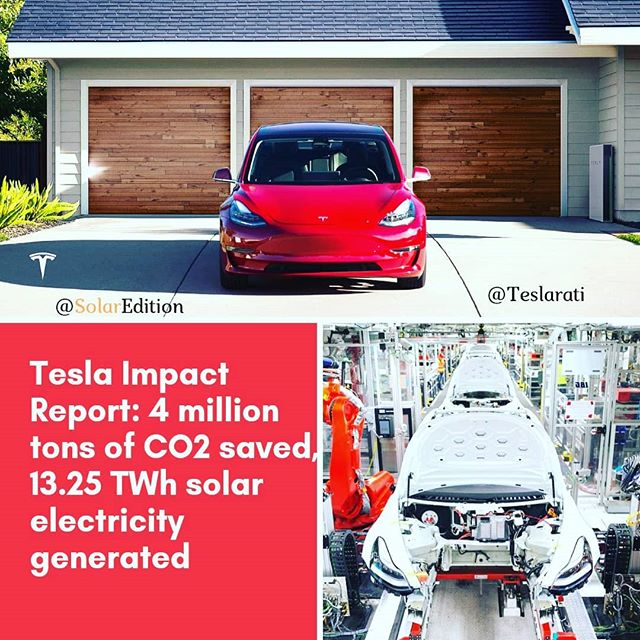Tesla Impact Report: 4 million tons of CO2 saved, 13